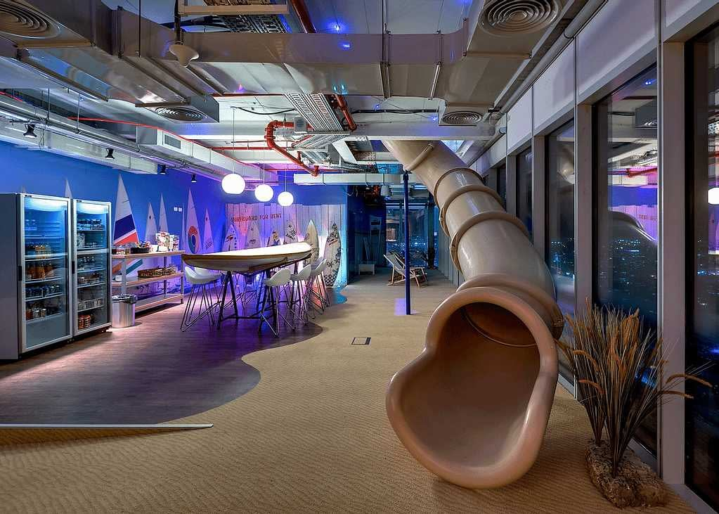 Google HQ slide filmmaking blog