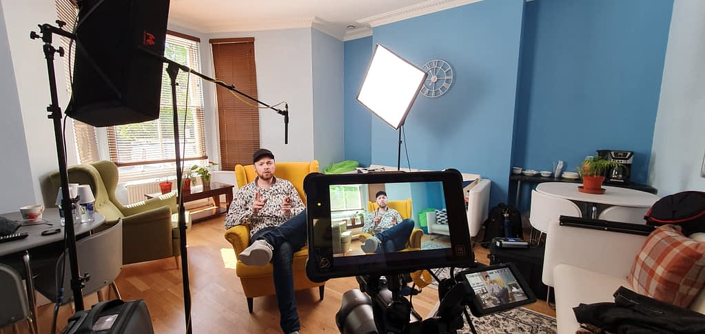 video production company camera interview
